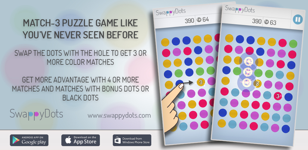 SwappyDots 1.3.5 - A Cross-Platform Puzzle Game Like You've Never Seen Image